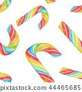 Seamless illustration of Rainbow Candy Cane 44465685