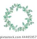 Round wreath with silver dollar eucalyptus. 44465957