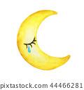 Cry moon isolation on white background 44466281