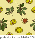 Vector seamless pattern of autumn pattern. Hand drawn vector illustration 44467274