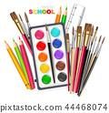 supplies, palette, pen 44468074