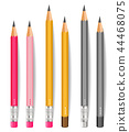 Pencils Vector realistic. Writting or drawing 44468075