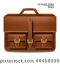 Leather Bag realistic Vector. Detailed 3d 44468099