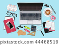 Business desk office set collection Vector 44468519