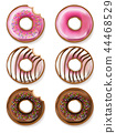 Donuts Vector realistic. 3d detailed desserts 44468529