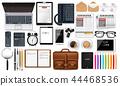 Laptop, gadget and office supplies business set 44468536
