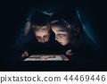 tablet, children, bed 44469446