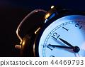 Five minutes to midnight on retro analog clock 44469793