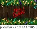 Merry Christmas. Template vector card. 44469853