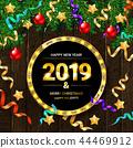 2019, decorative, frame 44469912