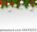 Christmas and New Year holiday design. 44470253