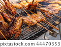 Thai food, Chicken BBQ on stove 44470353