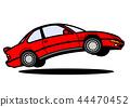 懷鄉國內小轎車跳紅色汽車例證 44470452