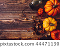 Halloween decoration on wooden background 44471130