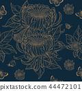 Chrysanthemum seamless pattern  44472101