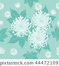 Chrysanthemum seamless pattern  44472109