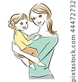 Illustration of a mother holding a child 44472732