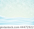 Abstract of Christmas background with snowflakes 44472922
