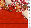 background christmas gingerbread 44472970
