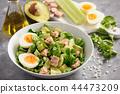Healthy tuna salad with avocado and eggs. 44473209