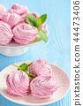 Homemade berry zephyr or marshmallow. 44473406