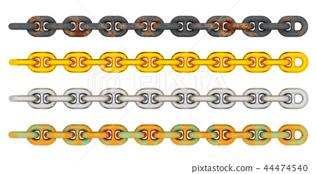 Anchor chains isolated on white background 44474540