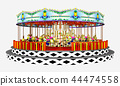 Carousel isolated on white background 44474558