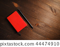 Notebook and pencil 44474910