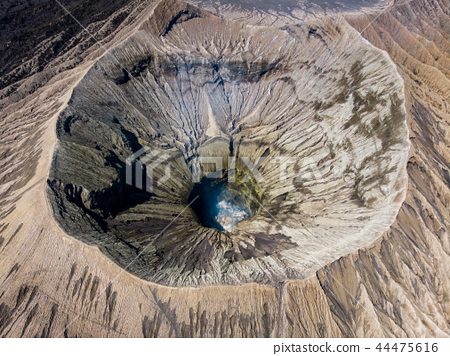Aerial view majestic mount crater volcano 44475616
