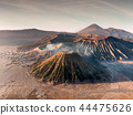 Aerial view Mount an active volcano Bromo 44475626