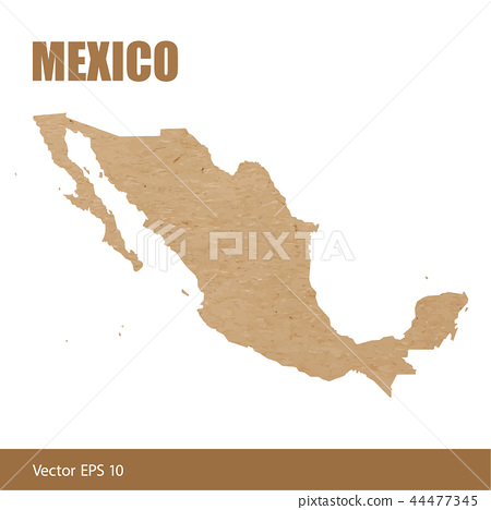 Detailed map of Mexico cut out of craft paper - Stock ...