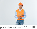 Construction engineer thinking, problem solving and solutions concept 44477400