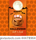 Halloween design with Jack o lantern and sweets 44478964