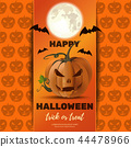 Halloween poster design with Jack o lantern 44478966