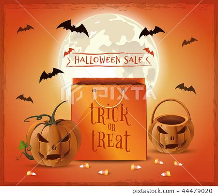 Halloween sale poster design. Trick or treat 44479020
