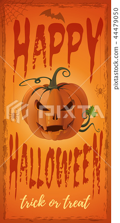 Vertical banner for Halloween with Jack o lantern 44479050