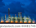 Landscape Boiler in stream power plant at night. 44481746