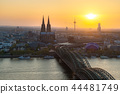 Cologne Cathedral during sunset in Germany. 44481749