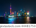 View of Shanghai at Lujiazui finance and business. 44481750