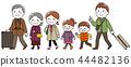 三代家庭旅行出去秋天和冬天 44482136