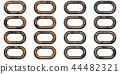 鮮豔細緻的金屬鐵鍊特寫材質紋理背景,俯視圖(高分辨率 3D CG 渲染∕著色插圖) 44482321