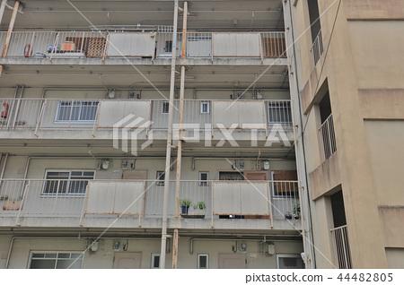 the modern apartment building at Momoyama kyoto 44482805