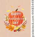 thanksgiving leaf greeting 44483449