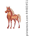 Horse illustration using different textures. 44483451