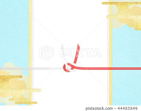 일본 - 일본식 디자인 - 일본식 - 배경 - 금박 - 구름 - 카스미 - 노 시지 - 수인 - 축의금 봉투 44483849