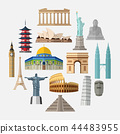World famous landmarks icon set 44483955