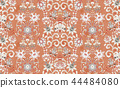 Seamless vector ornament with oriental pattern with hand draw flowers. Floral wallpaper. Decorative 44484080