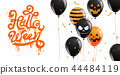 Happy Halloween Party , calligraphy 44484119