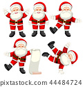 Set of santa claus character 44484724