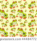 Red eyed tree frog seamless pattern 44484772